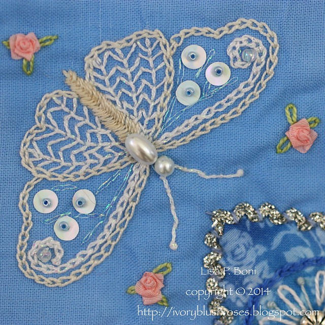 Fan #2 DYB Judy's Block Butterfly detail by Lisa Boni