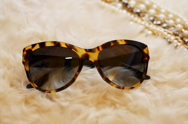 Ralph Lauren tortoise color cat eye 8089 sunglasses