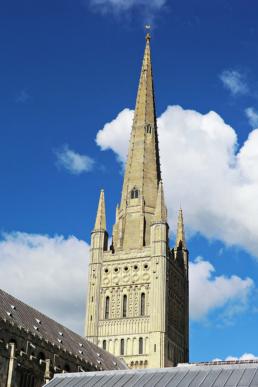 The spire, Norwich Cathedral