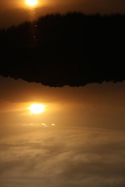 sunset down