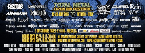 07/19 - 20/14 Total Metal Open Air 2014 @ Bitonto, Italy