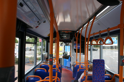 Interior of Stagecoach London 36601 on Route 499, Gallows Corner - Enviro 200MMC