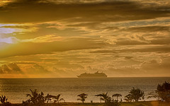 Cruise Ship in the Sunset 1