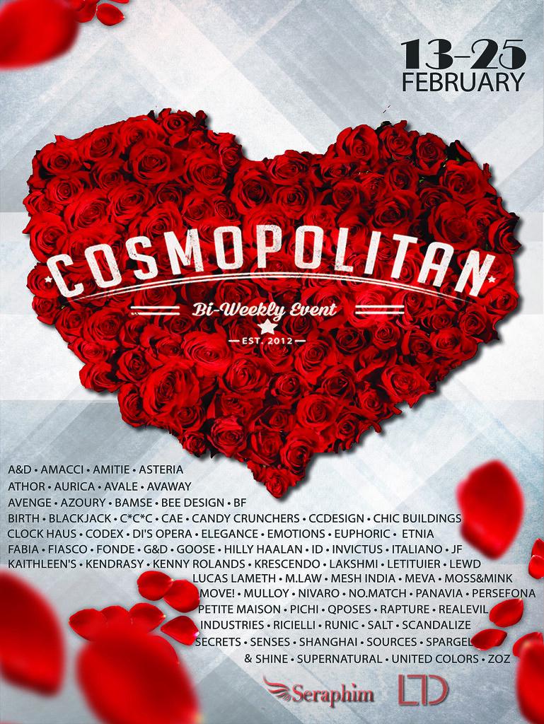 Cosmopolitan {Round 13-5} 13th - 25th February - SecondLifeHub.com