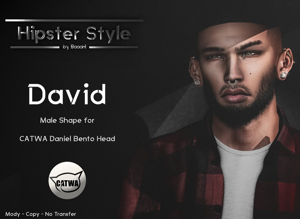 [Hipster Style] David Male Shape for CATWA Daniel Bento Head - SecondLifeHub.com
