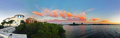 apollobeach architecture bay beach boardwalk boating canal clouds dusk florida home imran imrananwar iphone7plus mangroves panorama seaside sunset symphonyisles tampabay