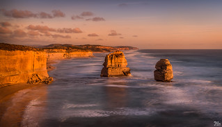 The Apostles and Gibson Steps at Sunset