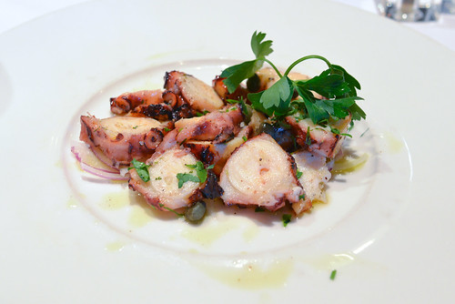 Grilled Octopus sashimi quality Mediterranean octopus, charcoal-broiled