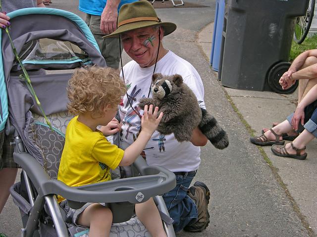 Judson Street Fest 2013 raccoon puppet