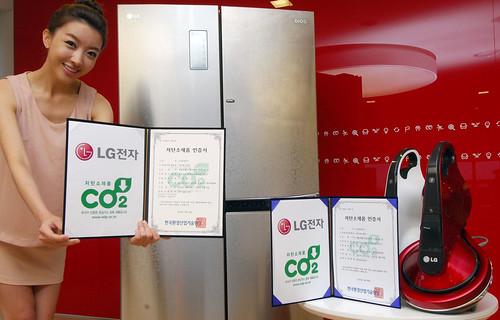 LG전자 저탄소 친환경 기술력 인증하는 모델