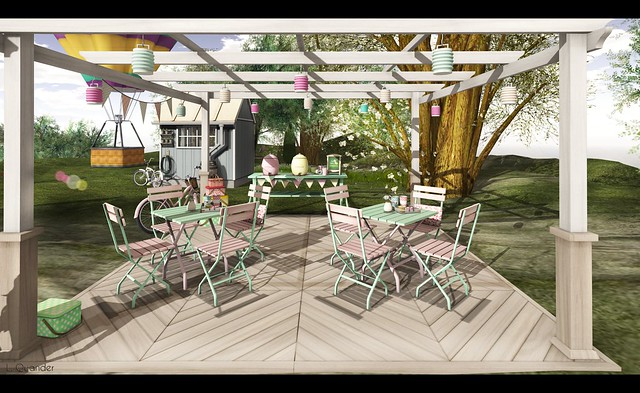 what next Garden Cafe Table (pink-green) for RFL Home and Garden Expo - 1