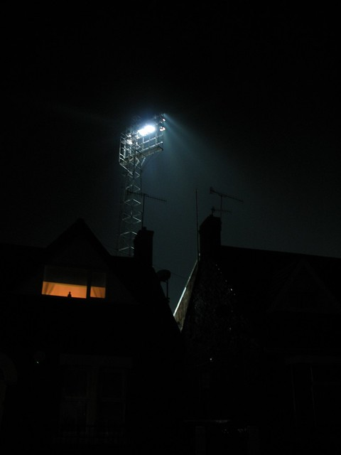 Floodlights at Saltergate