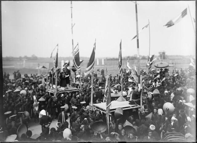 1897 Nam Dinh - Concours triennal; la foule pour la proclamation des lauréats