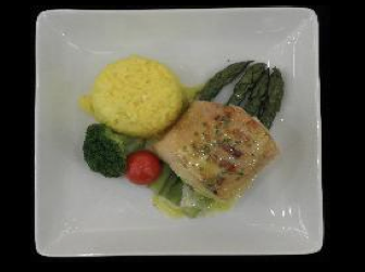 Cod with Lemon Butter Sauce and Saffron Risotto - ICN