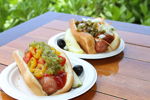 Beef and Portuguese Sausage Hot Dog at Sheraton Maui Resort & Spa