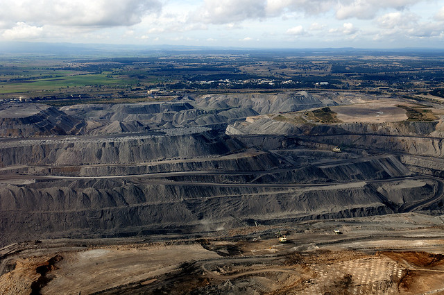 Open cut coal mine Hunter Valley