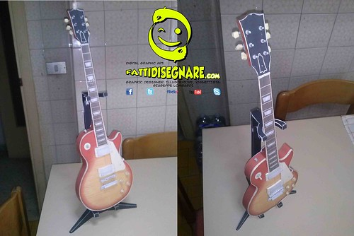 Gibson Les Paul Electric Guitar Paper Craf by Giuseppe Lombardi