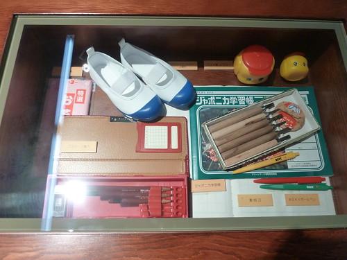 1970年代の学校の机の中