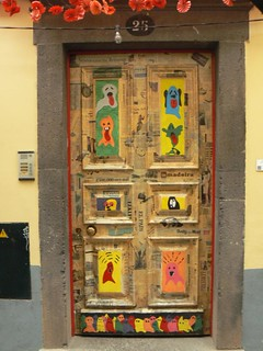 Door art, Funchal, Madeira