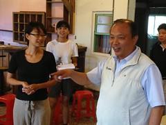 宜蘭縣長林聰賢參加小農聚會,並表示縣府將以自治條例推動有機農業。