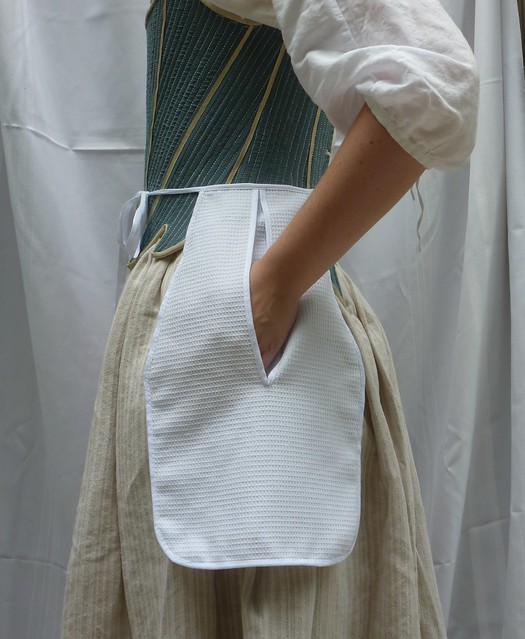white cotton dimity pocket