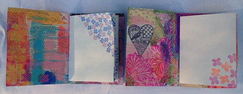 Small Art Journal Series - Inside the Journals with Stamped pages