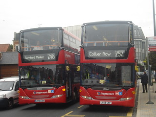 Stagecoach 15002 (248), 15016 (252), Hornchurch