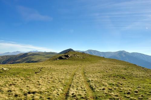 road mountain highlands altitude meadow