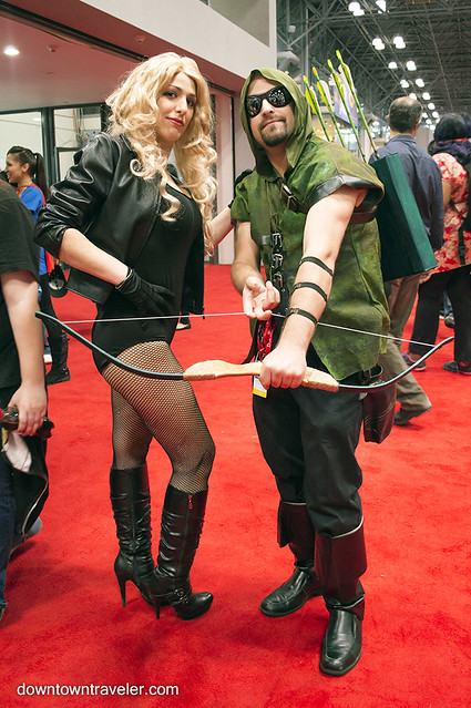 NY Comic Con Couples Costume Green Arrow Black Canary