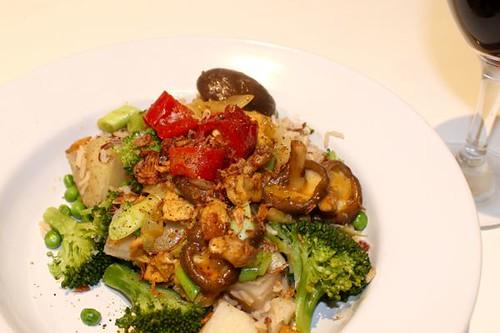 Spicy Tofu with Shiitake