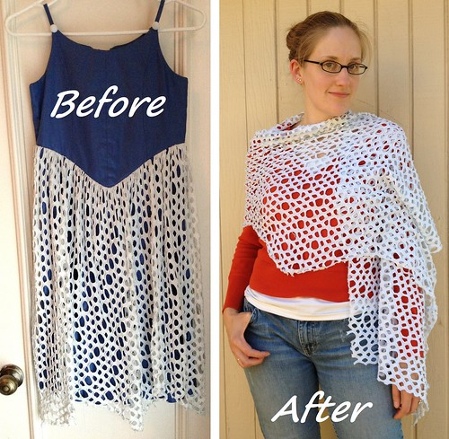 Cobweb Wrap Refashion - Before & After