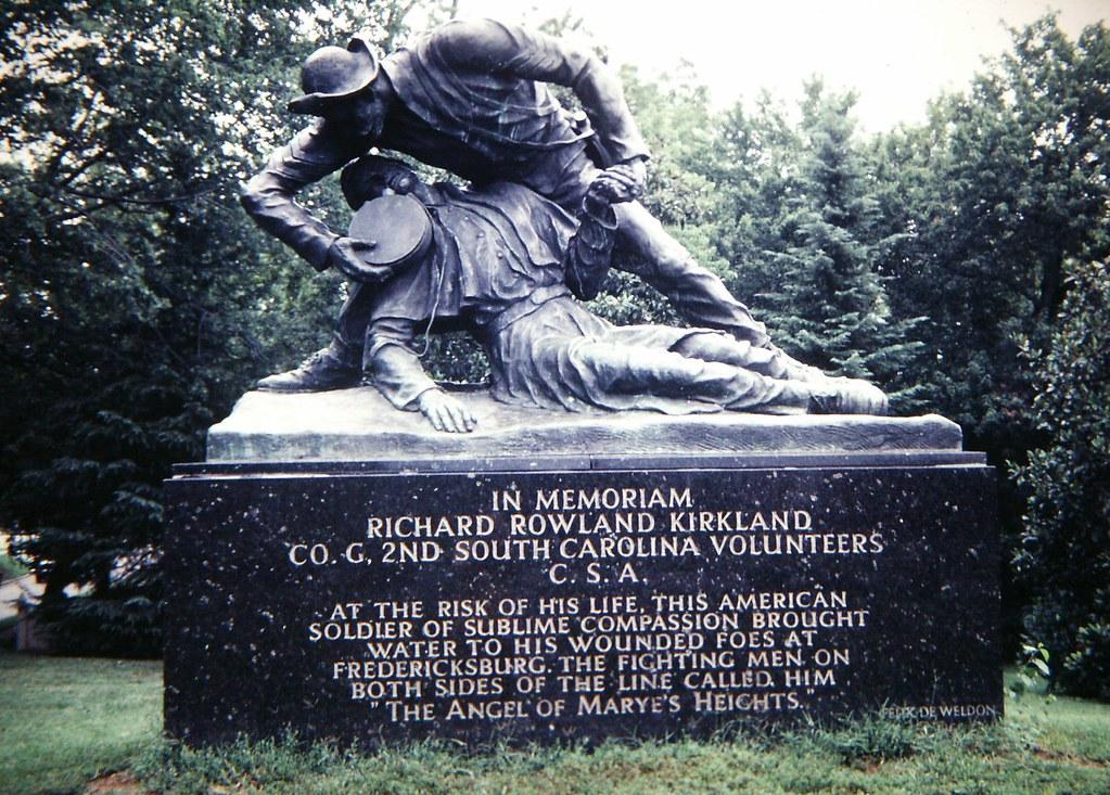 Fredericksburg: Statue of Sgt  Rowland Kirkland Giving Wat