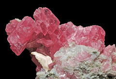 rhodochrosite, quartz, calcite, fluorite, pyrite