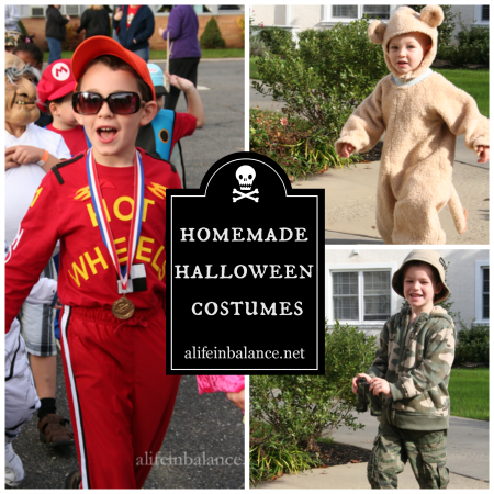 Homemade Halloween Costumes: I love coming up with fun Halloween costume ideas for my kids. My favorites: the race car drive, lion, and soldier.