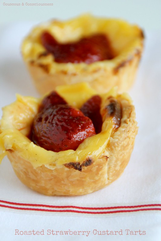 Roasted Strawberry Custard Tarts 3