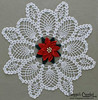 Poinsettia Pineapple Doily Crochet Pattern PA320 by maggiescrochet
