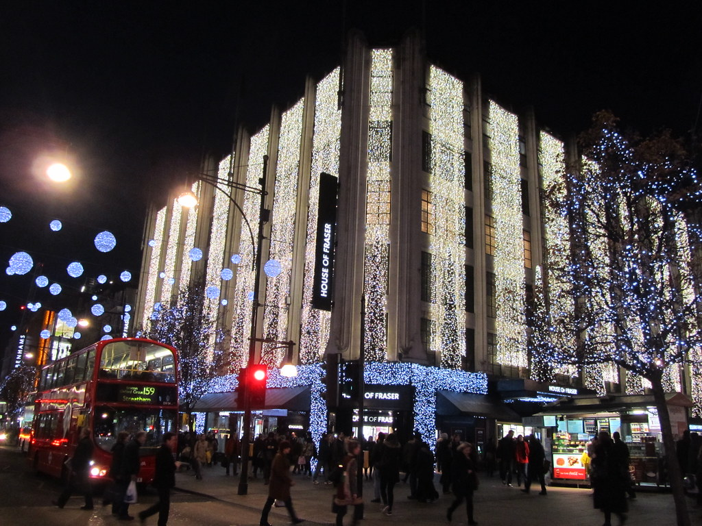 b20a86a0cd3c ... UK - London - Oxford Street - Christmas Lights at House of Fraser