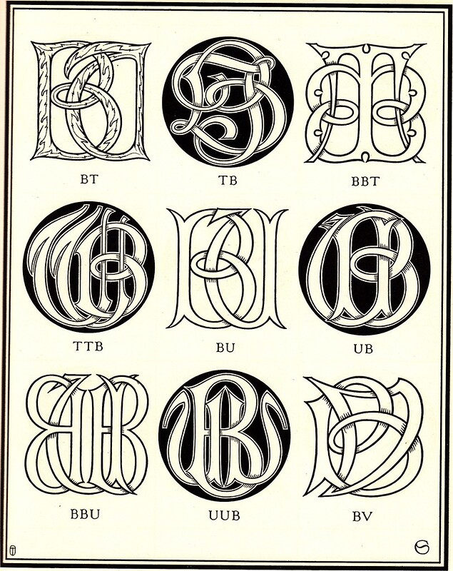 Monograms & Ciphers by AA Turbayne 1912 e