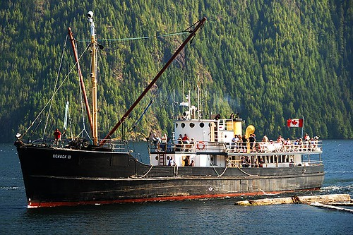 MV Uchuck lll in Muchalat Inlet, Gold River, Central Vancouver Island, British Columbia