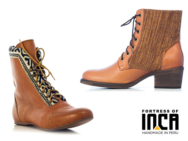 7 fortress of inca brown ankle boots handmade in peru
