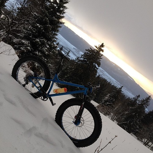 winter snow sunrise ride fatbike instagram ifttt 26012014