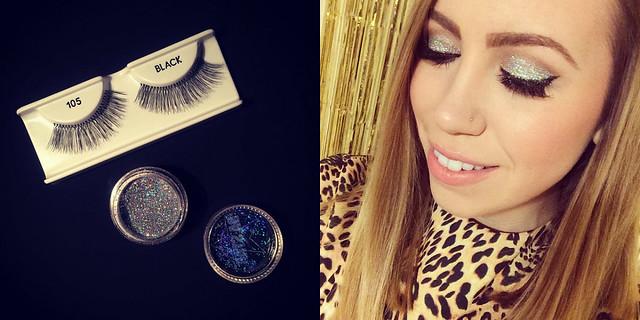 Glitter Eye Makeup : January Beauty Recap on Living After Midnite
