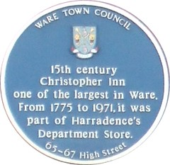 Photo of Christopher Inn blue plaque