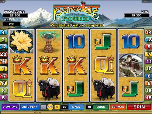 Paradise Found Bonus Game Prize