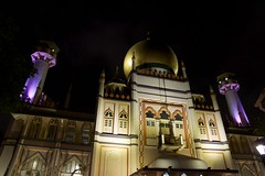 Sultan Mosque in Singapore at night