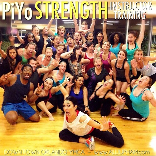Had to regram this picture from @alliupham because I am still so proud of the work (WERK!!!) my fellow new PiYo Strength instructors put in over the weekend. She promised it would be painful to sit for days after the training and she was right. Limping ar
