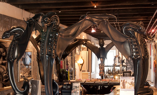 H R Giger Museum Reception Desk, Gruyere, Switzerland