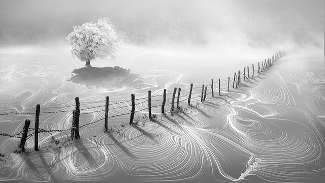 Winter in lines and boundary