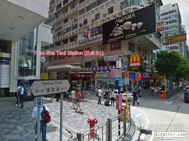 directions from  A21 82 84 Nathan Road bus stop to Mirador Mansion Cosmic Guest House (2)