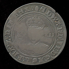 creased shilling obverse